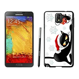 Personalization Christmas Cat Black Samsung Galaxy Note 3 Case 17