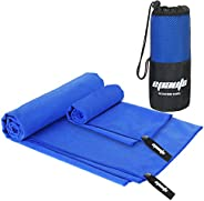 2 Pack Gym Towel - EPAuto Microfiber Fast Drying Towels for Travel Beach and Gym