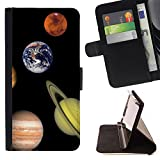 STPlus Solar System Planets Wallet Card Holder Cover Case for Apple iPhone 7 Plus / iPhone 8 Plus