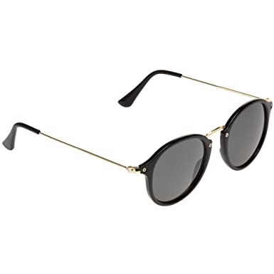 ffca9a81c46 Jeepers Peepers Round Womens Sunglasses Black at Amazon Women s Clothing  store