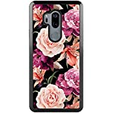 LG G7 Case, LG G7 ThinQ Case Rose Floral, POKABOO Girls and Women Flexible Slim Fit Full Protective Shockproof Scratch Resistance Cover Phone Case for LG G7/LG G7 ThinQ