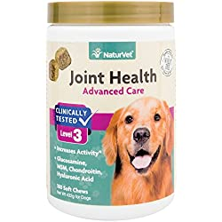 NaturVet Joint Health Soft Chews Level 3 Advanced for Dogs, 15 OZ