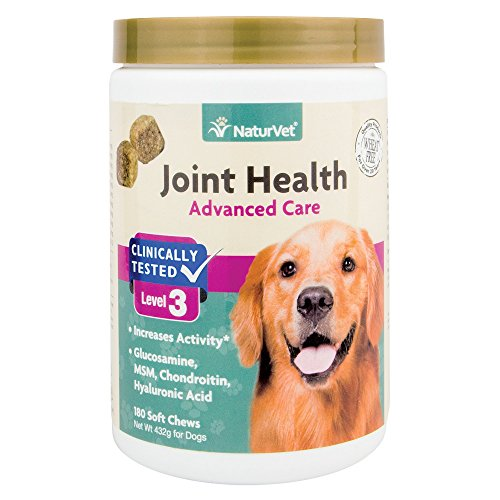 NaturVet Joint Health Soft Chews Level 3 Advanced for Dogs, 15 OZ by NaturVet