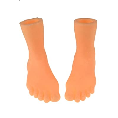 Hapshop Screepy Halloween Mini Finger Feet Tiny Left Right Feet for Game Party Costume: Garden & Outdoor