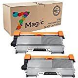 7Magic Compatible Toner Cartridge Replacement for Brother TN450 TN420 Use in Brother HL 2240 2280DW 2270DW MFC 7860DW 7360N Series Printer (2 Pack Black)
