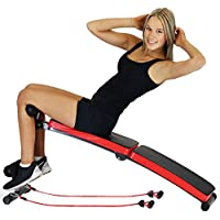 New Decline Sit Up Home Gym Weight Bench Press Fitness Situp With Resistance Bands