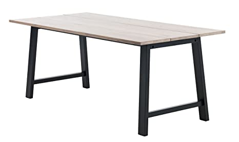 Jysk Table De Salle A Manger Gadeskov 90 X 190 En Chene Noir Amazon