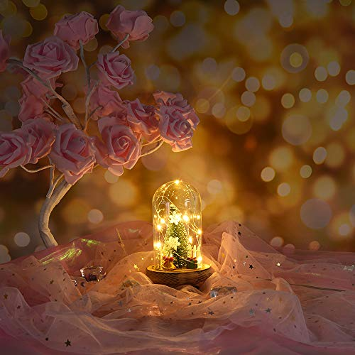 (Glumes Night Light for Kids Baby Christmas Gift Birthday Copper Wire Lamp Christmas Tree Microscopic Scene Led Desk Lamps Home Office Bedroom Wedding Party Decoration|USA Warehouse Shipment (green))