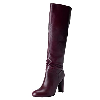 0536e7bf55d9 Amazon.com  Stuart Weitzman Women s Purple Leather High Heel Boots Shoes   Shoes