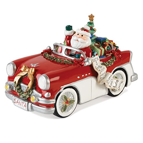 Merry & Bright Collection, Santa in Car 'Here Comes Santa Claus' Musical Figurine (Comes Santa Here)