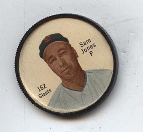 1962 Salada Baseball Coin #162 Sam Jones (Salada Baseball Coins)