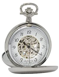 Dakota Men's Mechanical Hand Wind Metal and Alloy Watch, Color:Silver-Toned (Model: 31883)