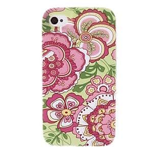 WQQ Caso especial diseño rojo de la flor de dibujo para el iPhone 4/4S
