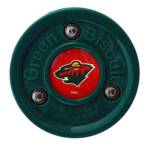 Green Biscuit Original NHL Minnesota (Nhl Team Hockey Pucks)