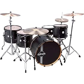 ddrum REFLEX RSL PH 24 5PC BKS Reflex Powerhouse 24 Drum Set, 5 Piece, Black Satin 9