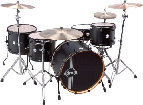 ddrum REFLEX RSL PH 24 5PC BKS Reflex Powerhouse 24 Drum Set, 5 Piece, Black (Ddrum Sets Bass Drum)