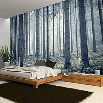 YZHHSH Fototapete, personalisierbar, Holz, modern, Wald ...