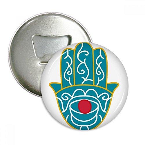 - Egypt Pattern Hand Red Eye Art Pattern Round Bottle Opener Refrigerator Magnet Pins Badge Button Gift 3pcs
