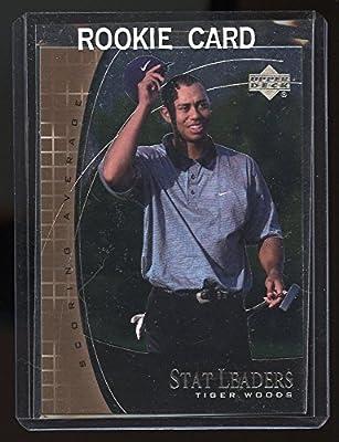 Amazoncom 2001 Upper Deck Stat Leaders Sl11 Tiger Woods Rookie