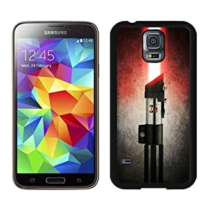 Samsung Galaxy S5 Cover Case,Darth Vader's Lightsaber Black Cool Customized Samsung Galaxy S5 I9600 Case