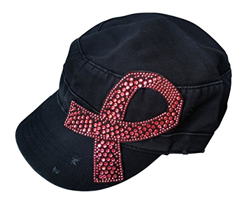 Olive & Pique Women's Breast Cancer Awareness Pink Ribbon Cadet