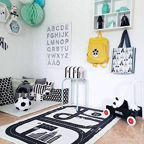 NTBN Shark Dog Game Size 15090cm Shark and Dog Footprints Map Game Pad Crawling Mat Baby Child Room Decoration/Infant Home Convas Rugs -