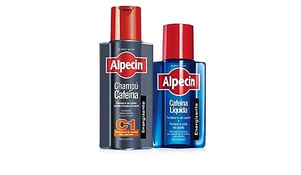 Alpecin Champú Cafeína C1, 250 ml + Alpecin Cafeína Líquida, 200 ml (champú anticaída + líquido anticaída): Amazon.es: Belleza