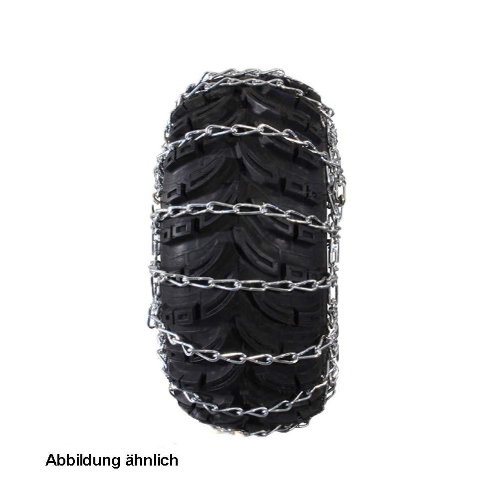 Schneeketten-Satz 20x10.00-8 Reifen Rasentraktoren Kehrmaschinen Spurkreuzkette