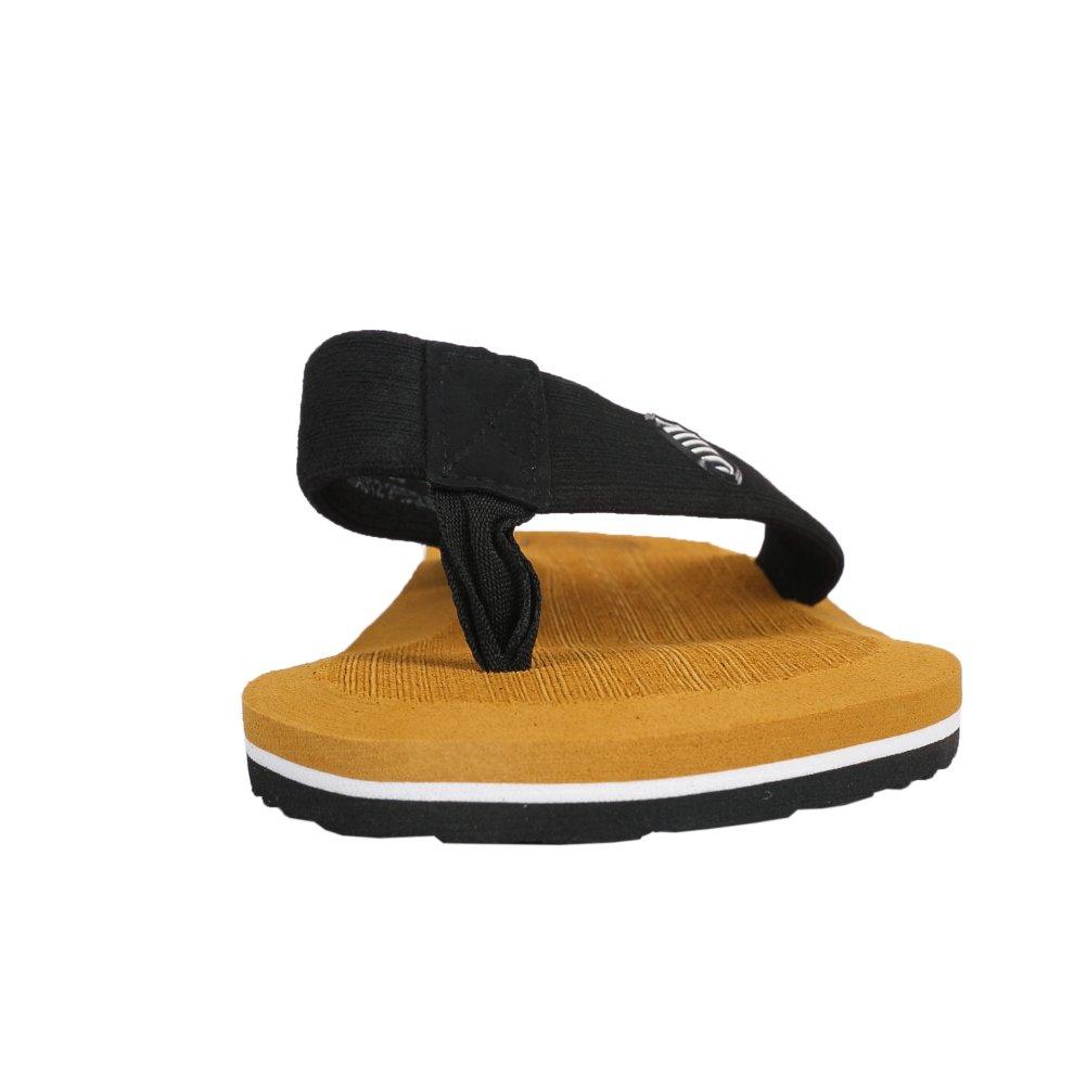 fereshte Mens Classical Beach Flip Flops Sandals Lightweight Comfort Thongs A# Earth Yellow EU48