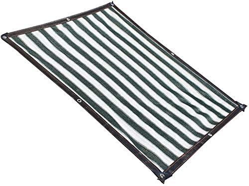 シェードネットタープタープグランドシートカバーは、緑色植物多肉植物日焼け止め断熱バルコニーパティオアウトドア、マルチサイズ、180G /㎡シェルター (Color : Dark green+White, Size : 8x12m)