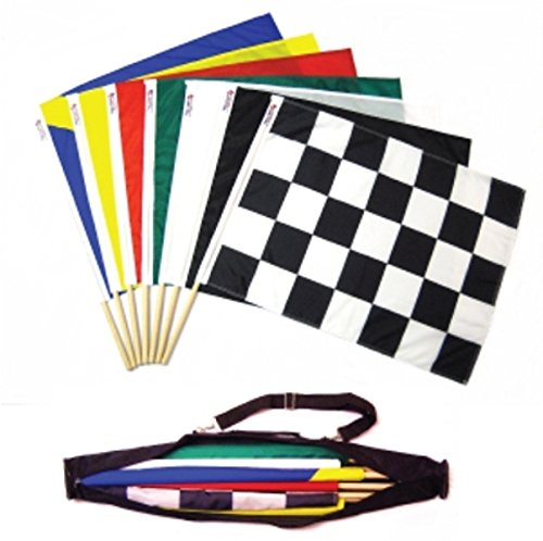 Flagman of America Track Flag Set of 7 with Carry Case 24