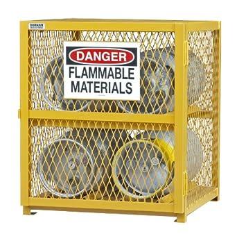 Durham Steel/Iron Horizontal Cylinder Storage Cabinet, EGCC4 50, 4 Cylinder  Capacity