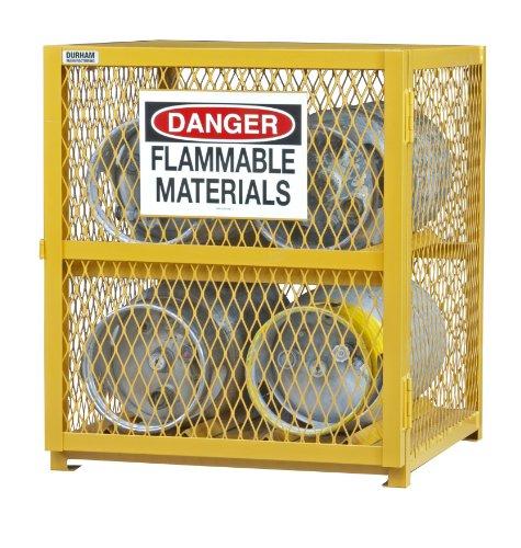 (Durham Steel/Iron Horizontal Cylinder Storage Cabinet, EGCC4-50,  4 Cylinder Capacity,  30