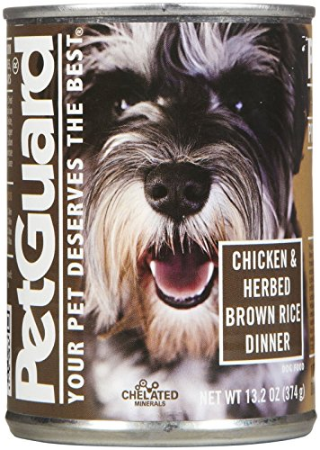 PetGuard Chicken and Herbed Brown Rice Dog Food, 14-Ounce (Pack of 12) by PetGuard