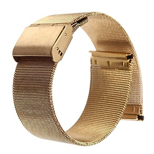 18/20/22/24mm Stainless Steel Watch Mesh Band Strap Double C