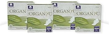 Organyc - Compresas de noche con alas - 100% Algodón Biológico - 4 x 10 unidades: Amazon.es: Salud y cuidado personal