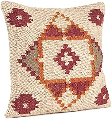 4 set of Hand Woven Jute Kilim Cushion Cover Indian Vintage Pillows Rugs 2016