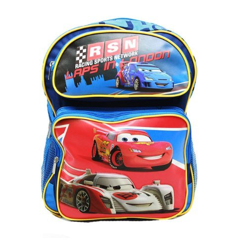 Backpack - Disney - Cars - McQueen Laps London (Large School Bag) New 41015-2   B009BBQLFM