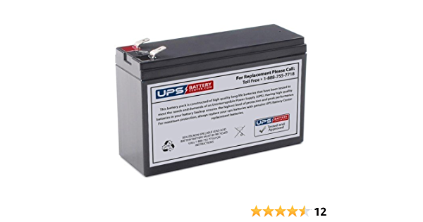 APC Back-UPS 200VA BK200B New Compatible Replacement Battery by UPSBatteryCenter