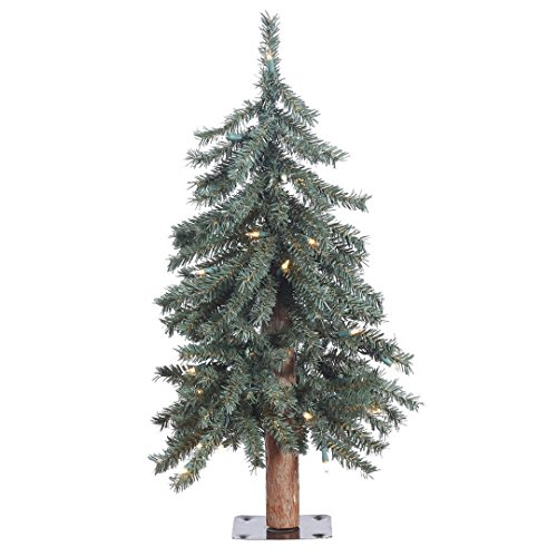 Vickerman B907321 Prelit Natural Bark Alpine Artificial Christmas Tree with  105 PVC Tips & 35 Dura - Amazon.com: Vickerman B907321 Prelit Natural Bark Alpine Artificial