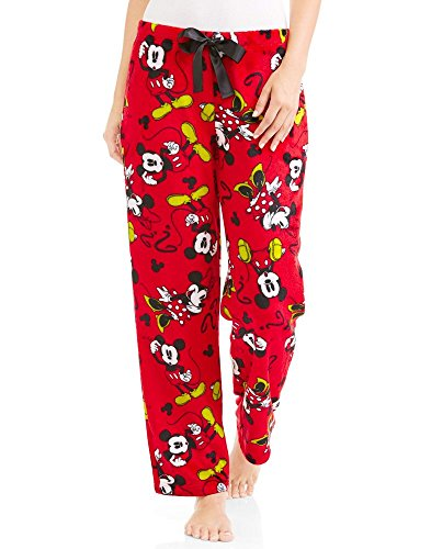 Disney Mickey & Minnie Mouse Red Super Minky Fleece Sleep Pants Medium - River Leeds