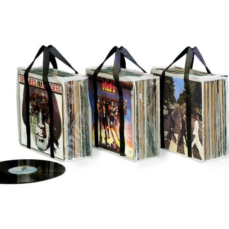 A SET OF 3 RECORD ALBUM STORAGE CASES - Each Case Hold 28 St