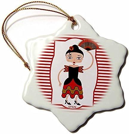 pansy Figura Decorativa de Copo de Nieve de Porcelana DE 7,6 cm para Colgar, España Está Representada por un Flamenco Dancer, Flamenco es español Popular Música Folk: Amazon.es: Hogar