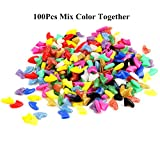 100Pcs Multi-Color Soft Pet Cat Nail Caps Claws Control Paws with 5Pcs Adhesive Glue 5Pcs Applicator with Instructions Support by Brostown (at Least 10 Colors Mix Together) (S)
