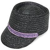 Sllxgli men and women straw breathable hat riding cap leisure straw hat
