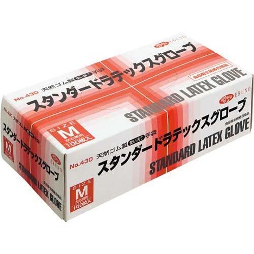 EBUNO ラテックス手袋 No.430 粉付 M 20箱 B012G5SNPA