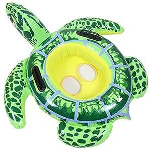 Artistic9 bebé Inflable Flotador, Encantador Tortuga Inflable Anillo de Natación Asiento Piscina Silla de Seguridad