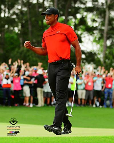 (Tiger Woods Fights Backs Tears As He Wins The 2019 Masters!, 8x10 Photo Picture )