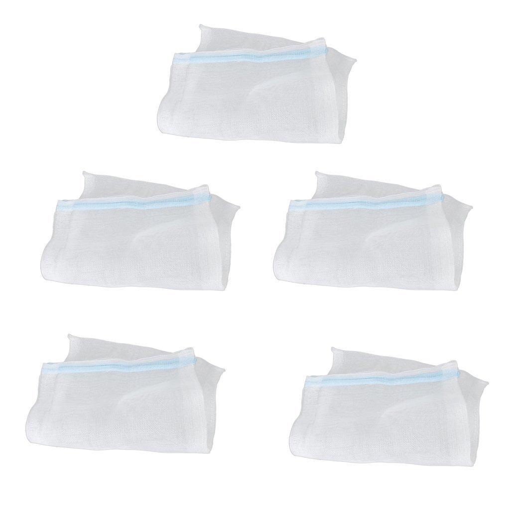 5pcs Aquarium filtre de bassin médias Sacs de filet en nylon W/fermeture Éclair --- Rancom Fermeture Éclair Couleur Unbekannt