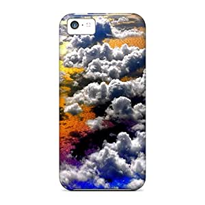 Protective Tpu Case With Fashion Design For Iphone 5c (clouds Above Ocean)